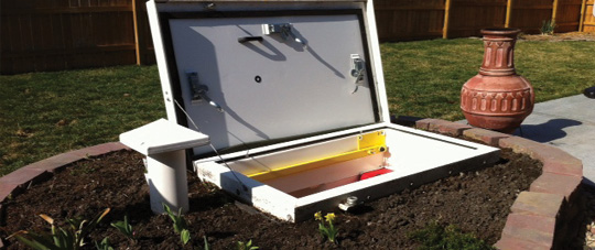 Beautiful Storm Shelter Install