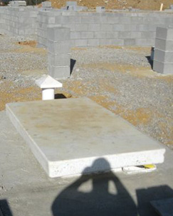 Tornado Shelter Installed, Installed Tornado Shelters, Installed Storm Shelter, Storm Shelter by Lake, High Water Table Storm Shelter, Tornado Shelter can be installed in high water table area